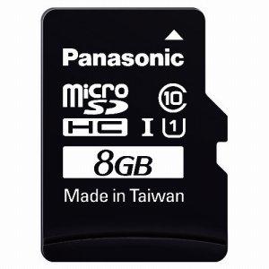 PANASONIC RP-SMGA08GJK MICROSDHC UHS-Iカード 8GB CLASS10