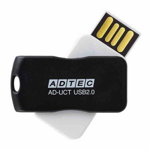 アドテック AD-UCTB8G-U2R USB2.0 回転式フラッシュメモリ 8GB ブラック