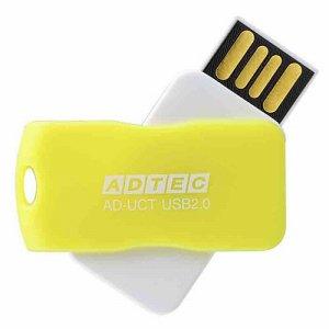 アドテック AD-UCTY16G-U2R USB2.0 回転式フラッシュメモリ 16GB イエロー