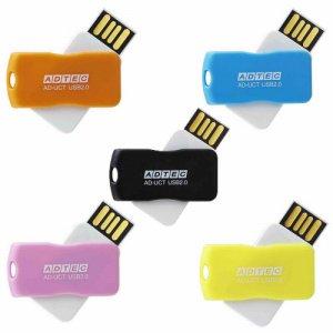 アドテック AD-UCTF8G-U2R USB2.0 回転式フラッシュメモリ 8GB 5色