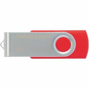 プリンストン PFU-T2KT/4GRD USBフラッシュメモリー 回転式カバー 4GB レッド
