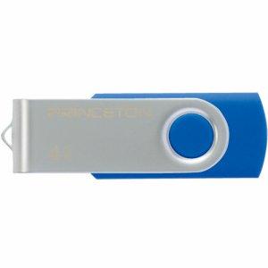 プリンストン PFU-T2KT/4GBL USBフラッシュメモリー 回転式カバー 4GB ブルー