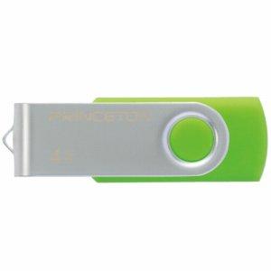 プリンストン PFU-T2KT/4GGR USBフラッシュメモリー 回転式カバー 4GB グリーン