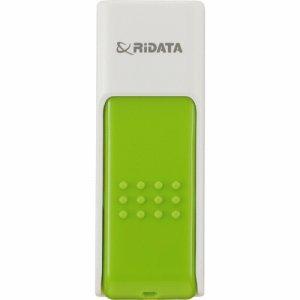 RiDATA RDA-ID50U032GWT/GR ラベル付USBメモリー 32GB ホワイト /グリーン