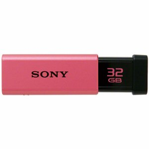 SONY USM32GT P USBメモリー ポケットビット Tシリーズ 32GB ピンク キャップレス