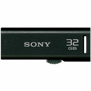 SONY USM32GR B スライドアップ USBメモリー ポケットビット 32GB ブラック キャップレス