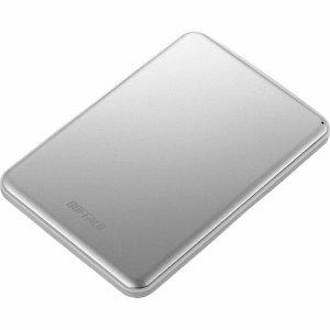 BUFFALO HD-PUS2.0U3-SVD USB 3.1 (Gen1)対応 アルミ素材&薄型ポータブルHDD 2TB シルバー
