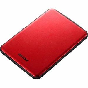 BUFFALO HD-PUS2.0U3-RDD USB 3.1 (Gen1)対応 アルミ素材&薄型ポータブルHDD 2TB レッド