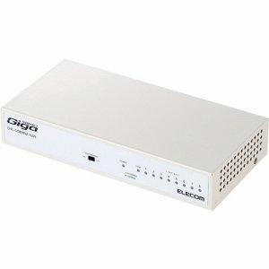 ELECOM EHC-G08MN2-HJW 1000BASE-T対応 スイッチングハブ 8ポート メタル筐体 ホワイト
