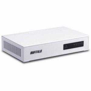 BUFFALO LSW4-TX-5NS/WHD 10 /100M対応 スイッチングハブ 金属筐体 電源内蔵 5ポート ホワイト