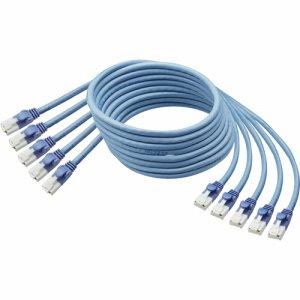 PTBU3EX5TA 爪折れ防止LANケーブル(CAT6) ブルー 3m 5本パック 汎用品