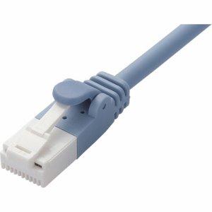 ELECOM LD-GPAYT/BU50 ツメ折れ防止やわらかLANケーブル CAT6A準拠 ブルー 5m