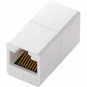 ELECOM LD-RJ45JJ6AY2 コンパクトRJ45延長コネクタ カテゴリー6A用