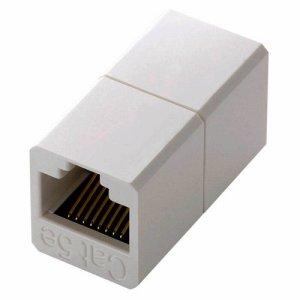 ELECOM LD-RJ45JJ5Y2 コンパクトRJ45延長コネクタ カテゴリー5E用