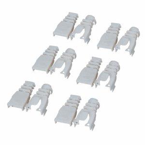 ELECOM LD-ABBE6 後付タイプコネクタ保護カバー ベージュ