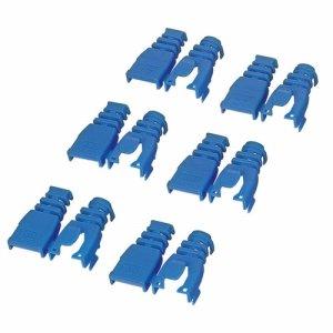 ELECOM LD-ABBU6 後付タイプコネクタ保護カバー ブルー