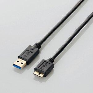 ELECOM USB3-AMB05BK/RS USB3.0ケーブル (A-MICROB) ブラック 0.5m