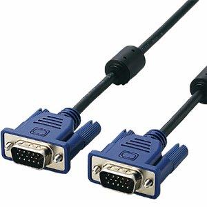ELECOM CAC-10BK/RS ROHS準拠D-SUB15ピン(ミニ)ケーブル ブラック 1.0m