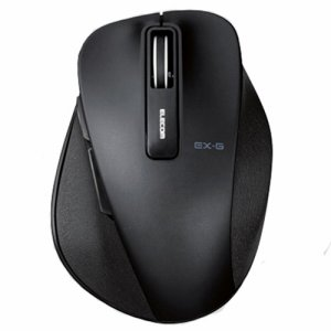 ELECOM M-XGS10DBBK EX-G ワイヤレスBLUELEDマウス Sサイズ ブラック