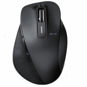 ELECOM M-XGM10DBBK EX-G ワイヤレスBLUELEDマウス Mサイズ ブラック