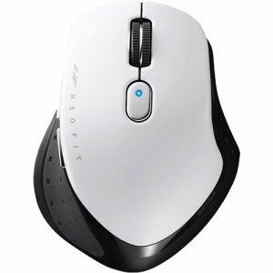 BUFFALO BSMBW510MWH 無線 BLUELED 5ボタン ネオフィットマウス Mサイズ ホワイト