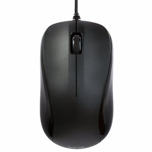 ELECOM M-S2ULBK/RST USBレーザーマウス 3ボタン Mサイズ ブラック