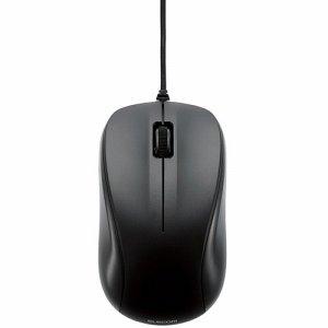 ELECOM M-K6URBK/RS USB光学式マウス 3ボタン ROHS指令準拠 Mサイズ ブラック