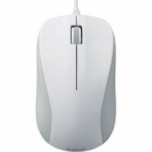 ELECOM M-K6URWH/RS USB光学式マウス 3ボタン ROHS指令準拠 Mサイズ ホワイト