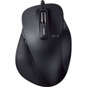 ELECOM M-XGL10UBBK EX-G 有線BLUELEDマウス Lサイズ ブラック