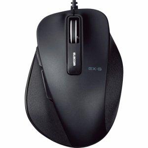 ELECOM M-XGS10UBBK EX-G 有線BLUELEDマウス Sサイズ ブラック