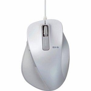 ELECOM M-XGS10UBWH EX-G 有線BLUELEDマウス Sサイズ ホワイト
