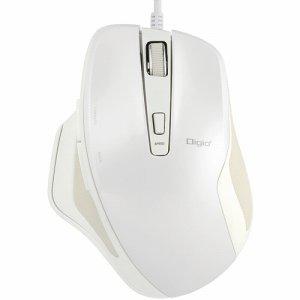 ナカバヤシ MUS-UKF156W 有線静音5ボタンBLUELEDマウス ホワイト