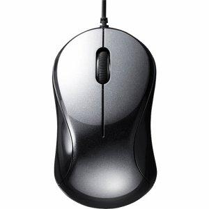 BUFFALO BSMBU100BK 有線 BLUELED 静音 3ボタンマウス ブラック