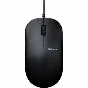ELECOM M-K7UBBK/RS 有線3ボタンBLUELEDマウス ブラック M-K7UBBK