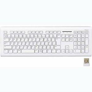 ナカバヤシ FKB-R245W 無線静音キーボード ホワイト