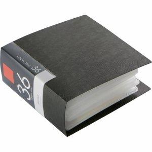 バッファロー BSCD01F36BK CD&DVDファイルケース ブックタイプ 36枚収納 ブラック