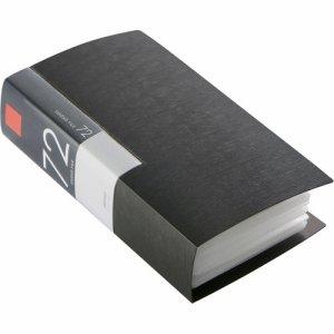 バッファロー BSCD01F72BK CD&DVDファイルケース ブックタイプ 72枚収納 ブラック