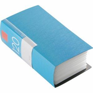 バッファロー BSCD01F120BL CD&DVDファイルケース ブックタイプ 120枚収納 ブルー
