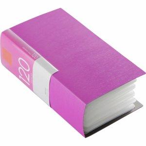 バッファロー BSCD01F120PK CD&DVDファイルケース ブックタイプ 120枚収納 ピンク