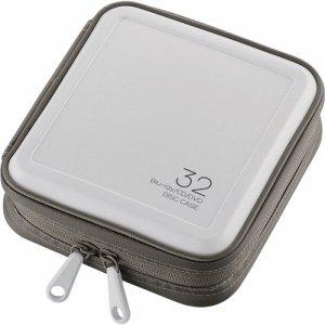 ELECOM CCD-HB32WH BLU-RAY・CD・DVD対応ファスナーケース 32枚収納 ホワイト