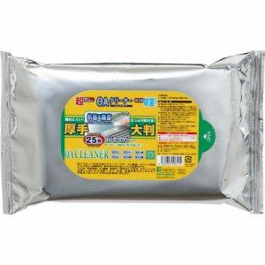 明晃化成工業 KCL61-BG25 OAクリーナー ウエットティッシュ 大判厚手タイプ