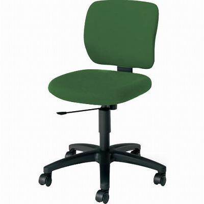 オフィスチェア 「イーザ」 肘無し 背・座同色オリーブグリーン