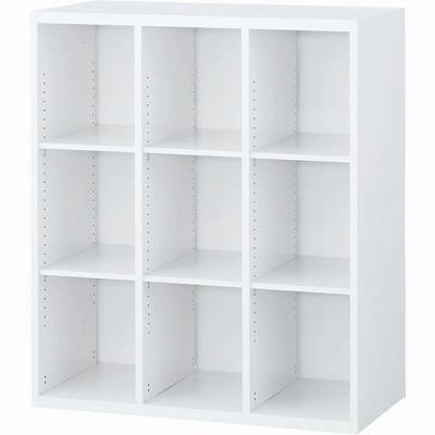 RW45-310K 3列オープン書庫 ホワイト