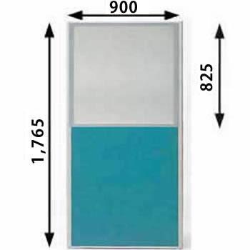 ローパーテーション MPシリーズ 高さ1765mm 幅900mm グリーン(上部半透明)