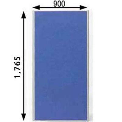 ローパーテーション MPシリーズ 高さ1765mm 幅900mm ブルー