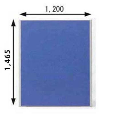 ローパーテーション MPシリーズ 高さ1465mm 幅1200mm ブルー