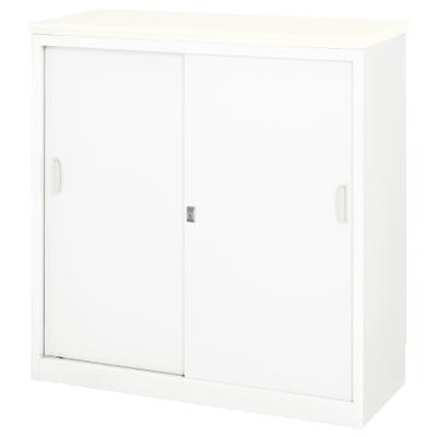 ハイカウンター 幅900 錠付・総扉タイプ 天板:ホワイト
