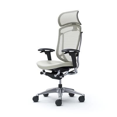 コンテッサ セコンダ コンテッサセコンダ エクストラハイバック 可動肘 座面革張り ホワイト