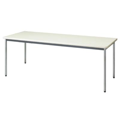 会議用テーブル ソフトエッジ 幅1800 奥行600 ニューグレー