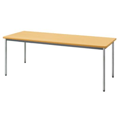 会議用テーブル ソフトエッジ 幅1800 奥行600 ペールアルダー